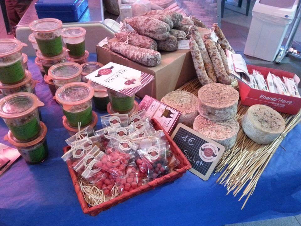 Stand produits d'Auvergne
